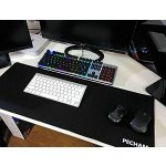 PECHAM Extended Non-Slip Waterproof Rubber Base 3mm Thick Gaming Mouse Pad