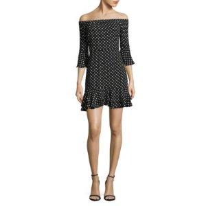 Lea & Viola Off-The-Shoulder Ruffled Dress