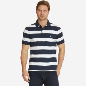 Classic Fit Striped Polo Shirt - Navy | Nautica
