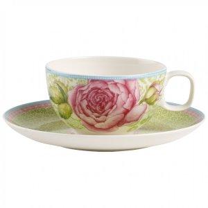 Rose Cottage Tea Cup & Saucer Set : Green - Villeroy & Boch