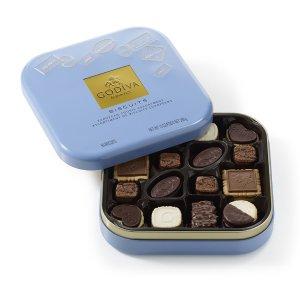 Chocolate Biscuit Tin, 50 pc.   GODIVA