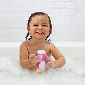 已过期宝宝更爱洗澡啦,munchkin 宝宝戏水玩具,粉色可爱小企鹅