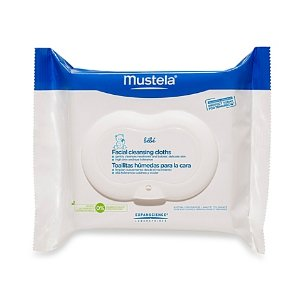 Mustela® Bébé Facial Cleansing Cloth with PhysiObebe (25-Count) - Bed Bath & Beyond