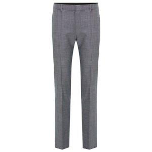 Basketweave Super 100 Wool Dress Pant, Slim Fit | C-Genius