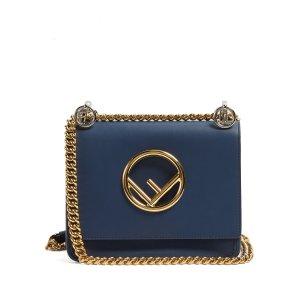 Kan I Logo small leather cross-body bag
