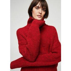 Oversize wool-blend sweater - Women | MANGO USA
