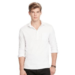 Cotton Jersey Popover Shirt