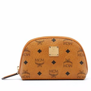 Medium Heritage Pouch in Cognac by MCM
