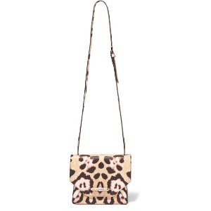 Givenchy Obsedia shoulder bag in leopard-print textured-leather