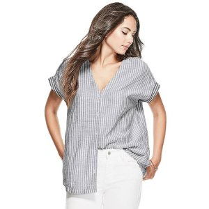 Striped Button Shirt at Guess