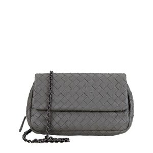 Bottega Veneta Mini Intrecciato Chain Crossbody Bag |