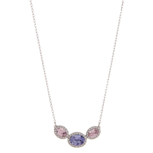 Swarovski | Christie Faceted Oval Multicolor Crystal Halo Set Pendant Necklace | HauteLook