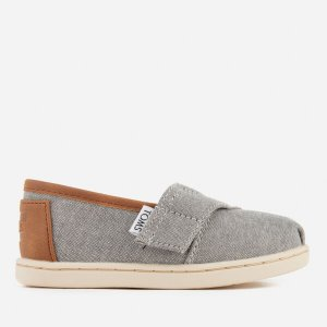 TOMS Toddlers' Seasonal Classic Chambray Slip On Pumps - Frost Grey