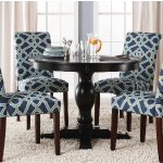 Threshol Round Pedestal Dining Table Sale