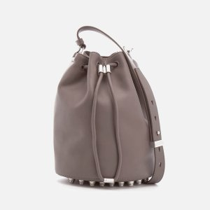 Alexander Wang Women's Alpha Soft Leather Bucket Bag - Mink Grey - Free UK Delivery over £50