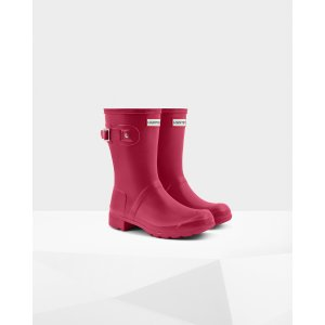 Womens Pink Short Packable Rain Boots | Official US Hunter Boots Store