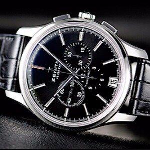 Lowest price $3495 (Orig $8,300)Zenith Men's Captain Chronograph Watch Model: 03-2110-400-22-C493