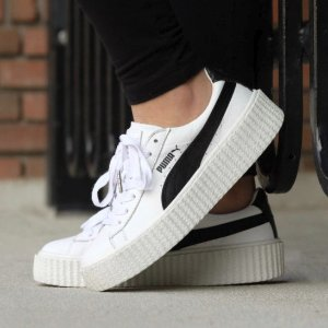 20% OFFPUMA Fenty by Rihanna Creeper White Leather Shoes Sale