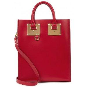 Albion mini cherry leather tote