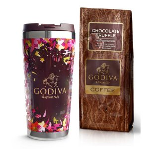 Godiva Tumbler with Truffle Coffee, Ground 10 oz.
