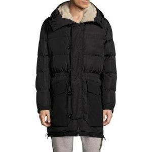 Sheep Fur Hooded Puffer Jacket