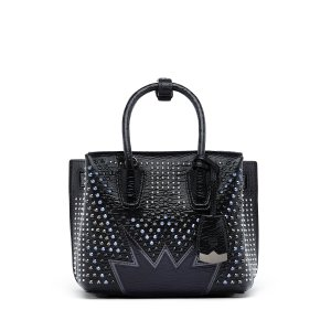 Mini Milla Cyber Studs Tote in Black
