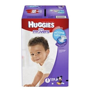 $14.38HUGGIES Little Movers Diapers, Size 3, 128 Count
