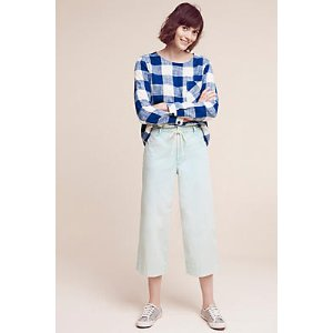 Cropped Chino Wide-Legs | Anthropologie