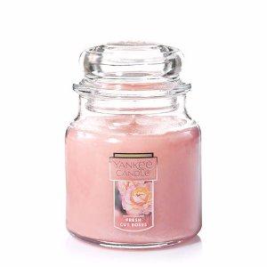 Fresh Cut Roses Medium Classic Jar Candles - Yankee Candle
