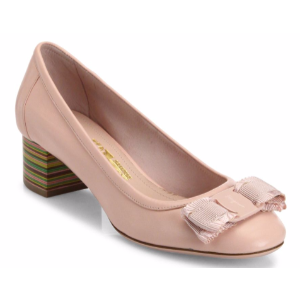 Salvatore Ferragamo - Elvin Ribbon Bow Leather Pumps - saks.com