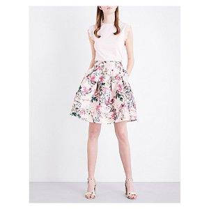 TED BAKER Juliane blossom pattern jacquard skirt