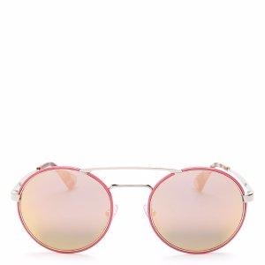 Prada Catwalk Round Mirrored Sunglasses, 54mm | Bloomingdale's