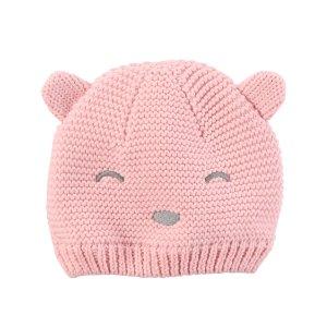 Knit Bear Face Hat