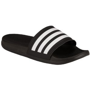 adidas Adilette Cloudfoam Ultra - Women's - Casual - Shoes - Black/White
