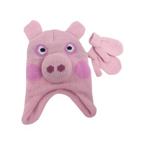 Toddler Girls' Peppa Pig® Hat and Mittens Set : Target