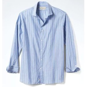 Heritage Grant-Fit Stripe Linen-Blend Shirt | Banana Republic