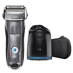 Braun Series 7 7865cc Men's Electric Foil Shaver / Electric Razor, Wet & Dry, Travel Case with Clean & Charge System, Premium Grey Cordless Razor, Razors, Shavers, & Pop Up Trimmer
