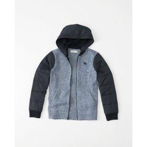 boys fabric mix sweater hoodie   boys clearance   Abercrombie.com