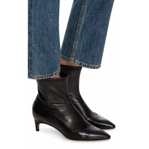 Stretch-Leather Ankle Boots   Moda Operandi