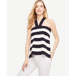 The Striped Halter Sweater | Ann Taylor