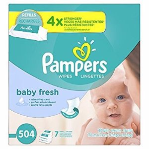 $11Pampers Baby Wipes Baby Fresh 7X Refill 504 Diaper Wipes