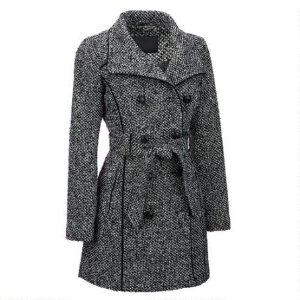 FAMOUS MAKER DOUBLE-BREASTED WOOL-BLEND TRENCH