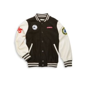 Boy's Patched Varsity Jacket
