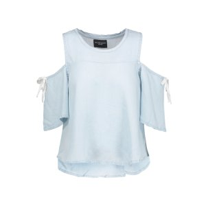 Sadie cold-shoulder washed-crepe de chine top | W118 by Walter Baker | US | THE OUTNET