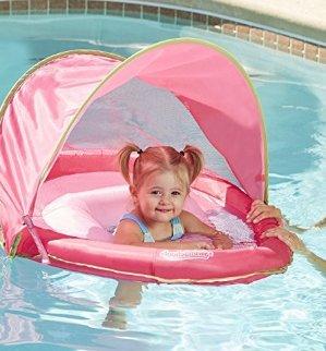 史低价 $5.46Aqua Leisure 婴儿坐式遮阳游泳圈