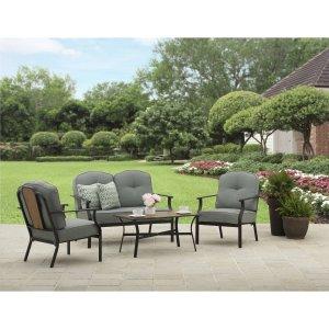Better Homes and Gardens Rolling Oaks 4-Piece Conversation Set