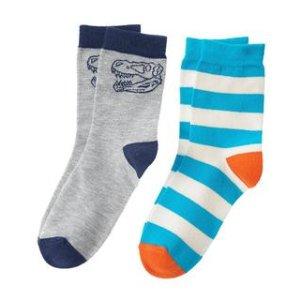 Dino Stripe Socks 2-Pack at Crazy 8