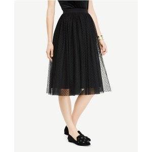Dotted Tulle Skirt | Ann Taylor
