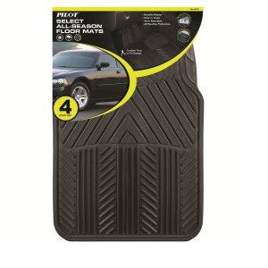 Pilot Automotive All Season 4 pc. Rubber Floor Mat Set