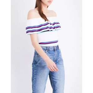 CLAUDIE PIERLOT Moka off-the-shoulder knitted top